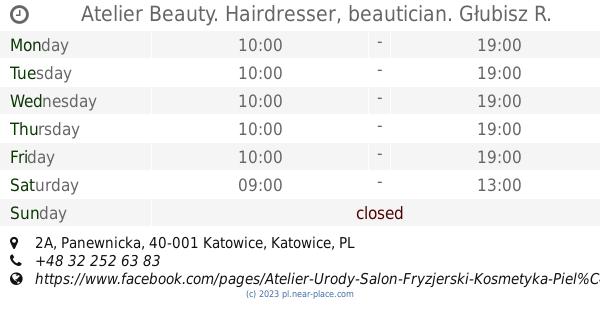 Atelier Beauty Hairdresser Beautician Głubisz R Katowice