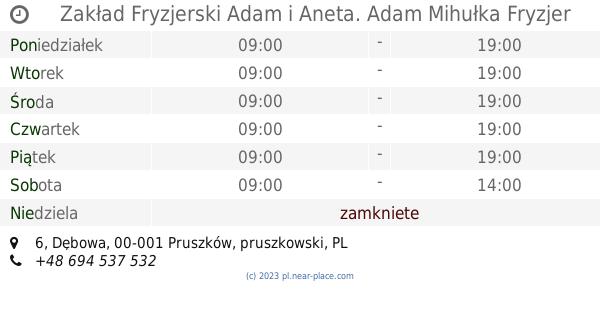 Zakład Fryzjerski Adam I Aneta Adam Mihułka Fryzjer Damsko Męski