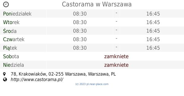 Castorama Godziny Otwarcia Niedziela