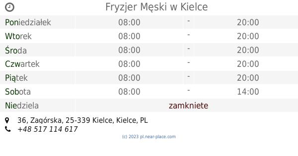 Fryzjer Męski Kielce Godziny Otwarcia 36 Zagórska Tel 48 517
