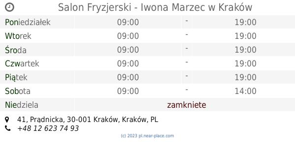 Salon Fryzjerski Iwona Marzec Kraków Godziny Otwarcia 41