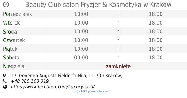 Beauty Club Salon Fryzjer Kosmetyka Kraków Godziny Otwarcia 17