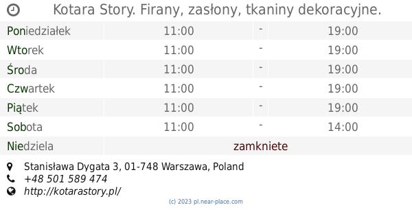 Kotara Story Firany Zasłony Tkaniny Dekoracyjne